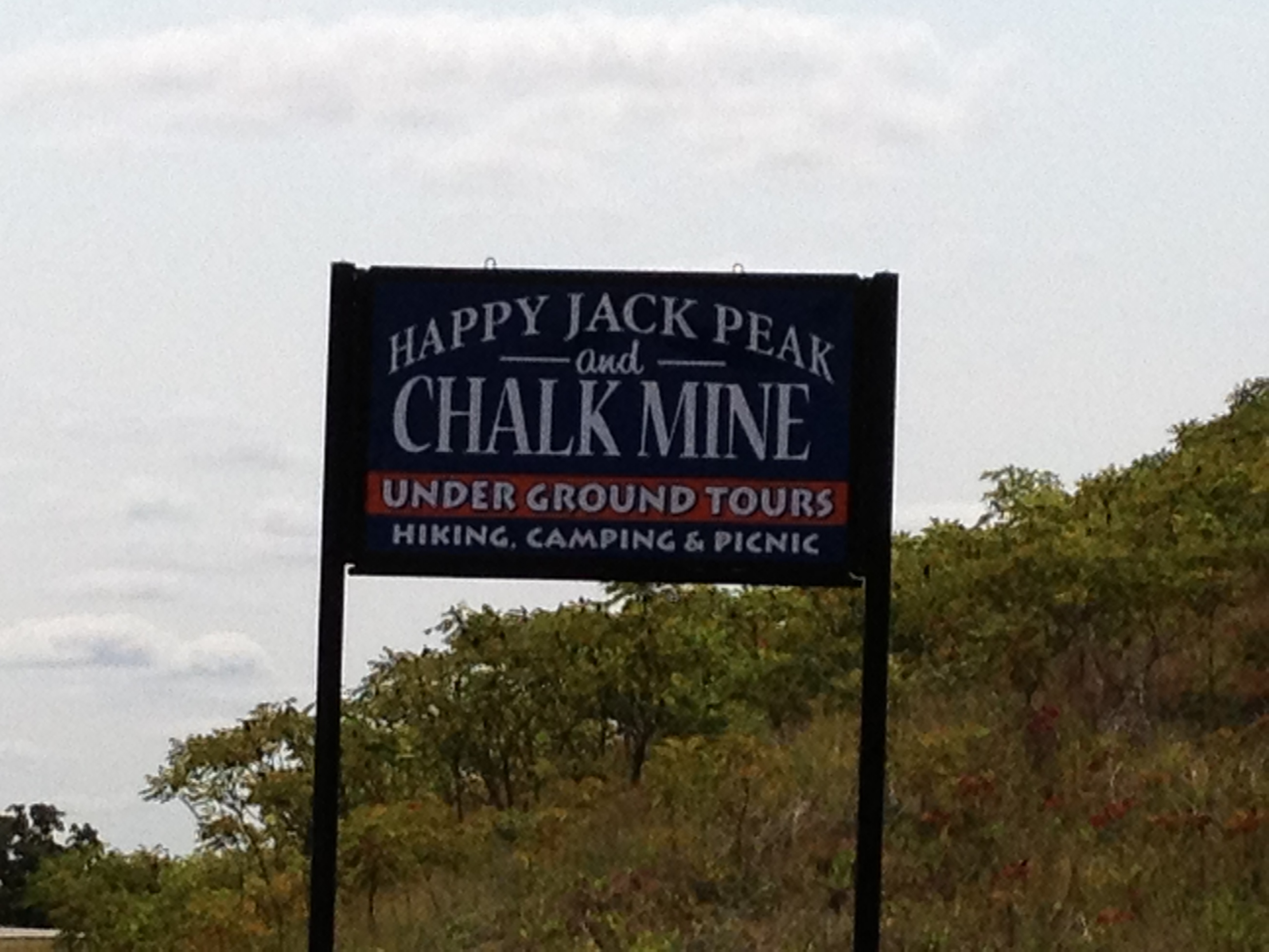 Happy Jack Chalk Mine, Photo by Janet Sanders August 2012 No 1